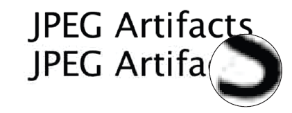 Text created as IMAGE = edge artifacts