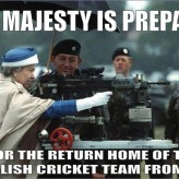 Queen Elizabeth Prepares For English Cricket Team Homecoming
